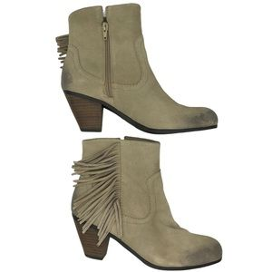 Crown Vintage Distressed Suede Leather Boots Sz 10